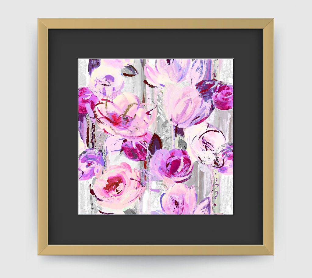 DELAUNAY PURPLE GREY ART PRINT